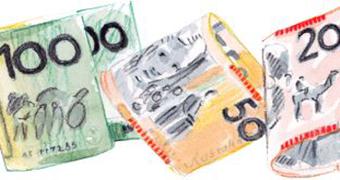 Custom image of illustration of Australian banknotes