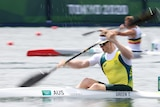Australian athlete competing in kayaking event at the Olympics
