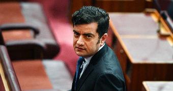 Labor senator Sam Dastyari in the Senate chamber.