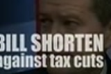 Negative ads target Malcolm Turnbull and Bill Shorten on tax.