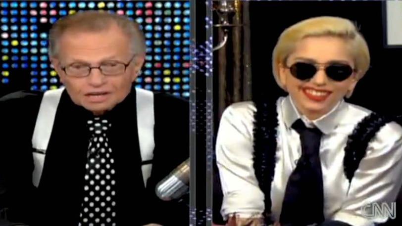 Larry King interviews Lady Gaga