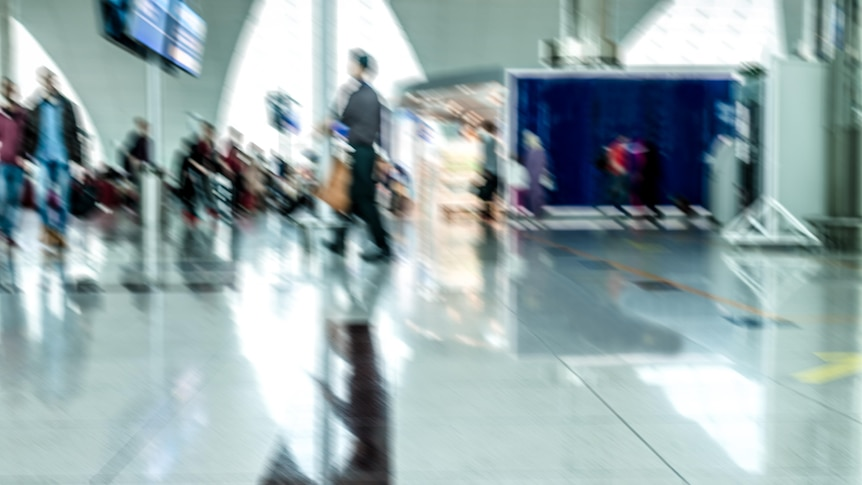 Blurred image of airport