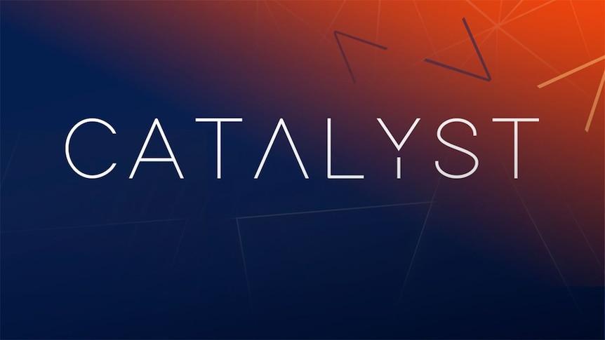Catalyst text on dark coloured background