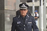 Victoria Police Assistant Commissioner Stephen Fontana outside the royal commission.