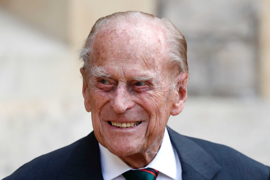 Prince Philip seen at the ceremony of the transfer of the Colonel-in-Chief of the Rifles.