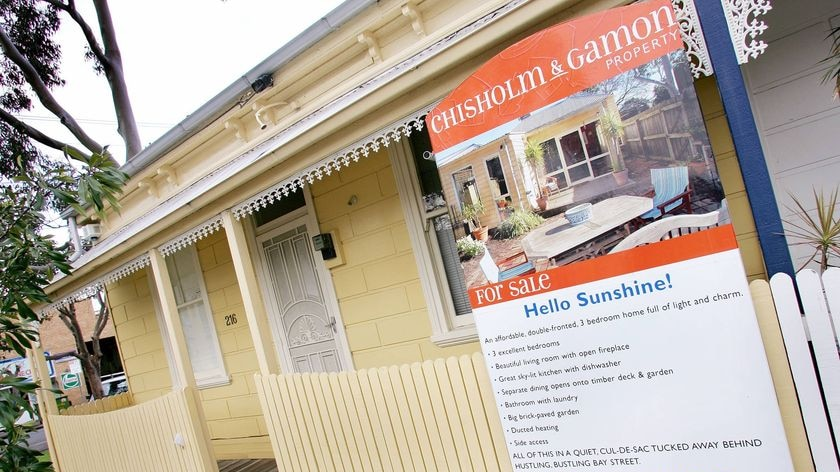 A house for sale in the inner-city suburb of South Melbourne.