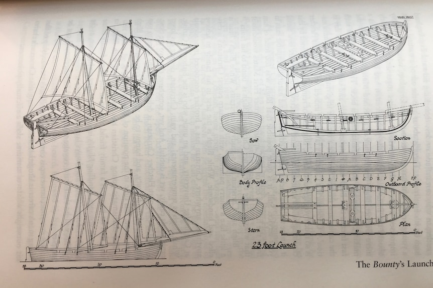 A sketch of parts of a boat