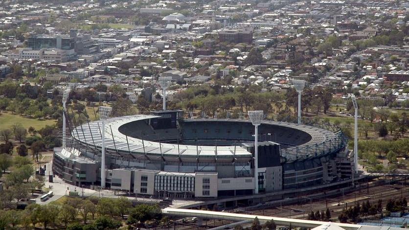 Aerial photo of the Melbourne Cricket Ground (MCG).