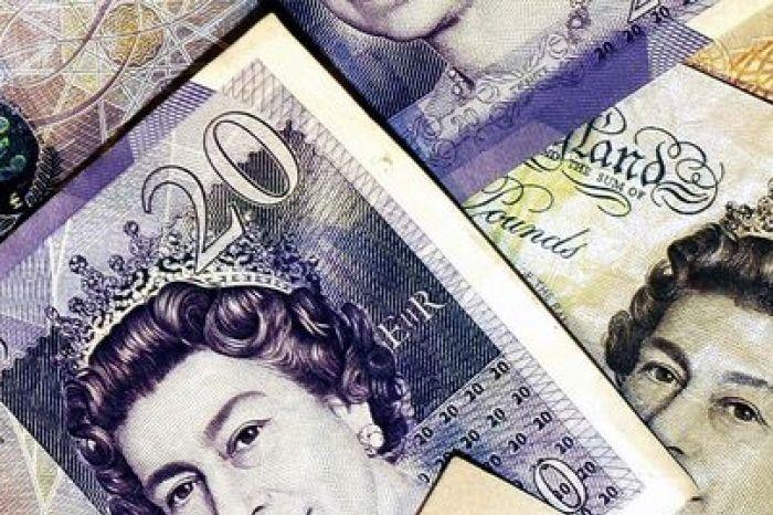 British Sterling pound notes