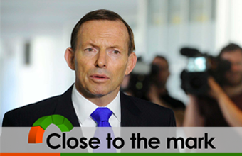 Tony Abbott says the fuel excise indexation will cost the average family 40 cents a week in the first year.