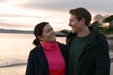 Simone Richardson and Aaron Wilhelmsen on Nutgrove Beach