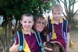 Kelly Jones with her children Luke and Eve.