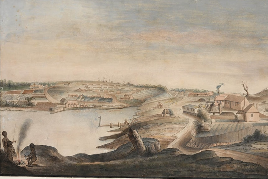 View of Sydney Cove by Thomas Watling