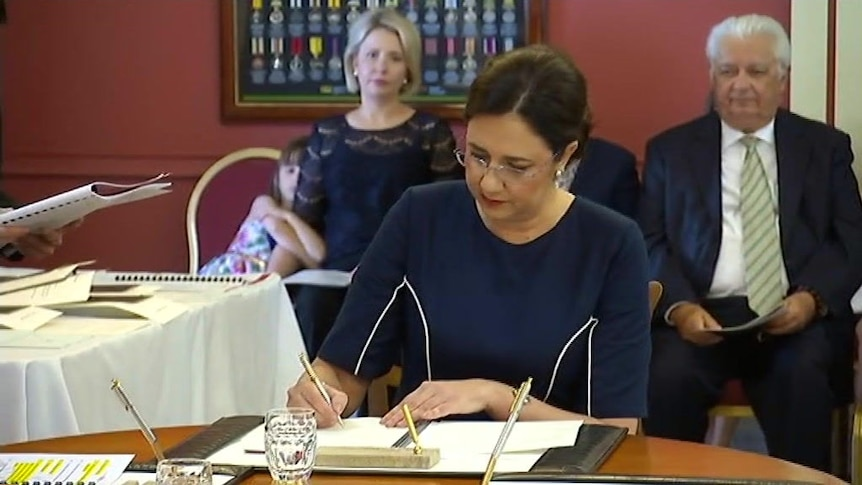 Palaszczuk government sworn in