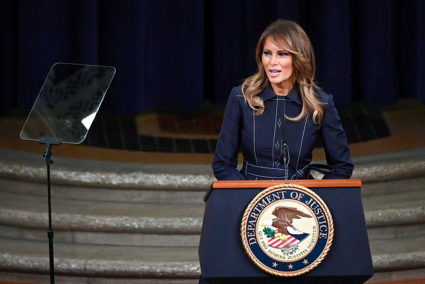 First lady Melania Trump delivers remarks