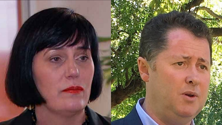 A side-by-side head and shoulders image of Leesa Vlahos and Jack Snelling