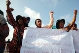 Cambodians protest against Australia's refugee deal