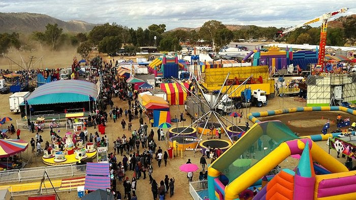 An aerial view of a carnival