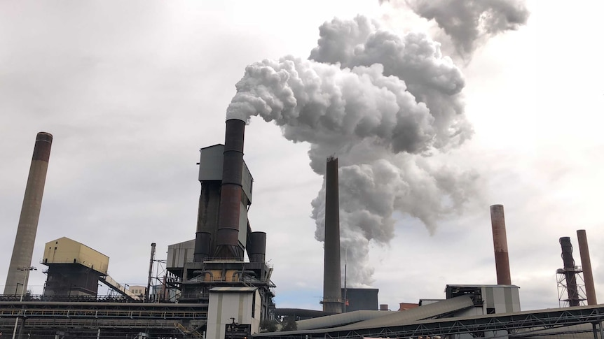 The Bluescope steelworks at Port Kembla near Wollongong