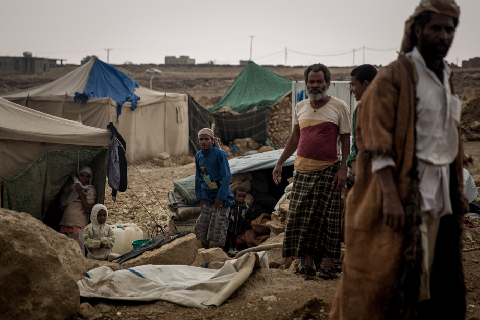 Mohamasheen, a marginalised group of African heritage, in a displacement camp.