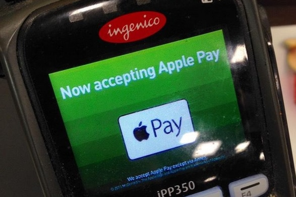 Screen showing the business accepts Apple Pay system for purchases