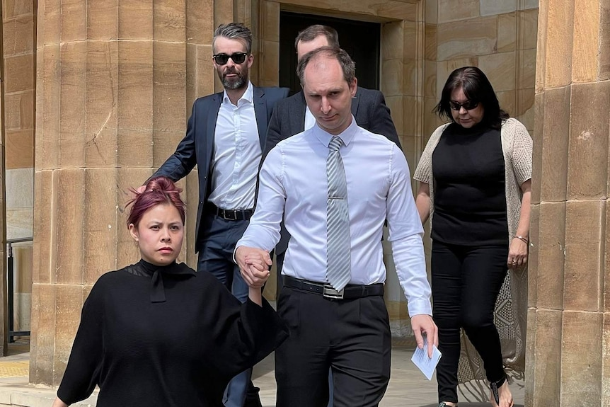 Alexander Campbell outside the Adelaide Magistrates Court.