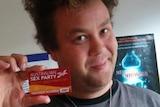Australian Sex Party member Nick Wallis shows his support via Twitter.