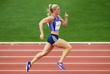 Pearson competes in the 200 metres in Canberra
