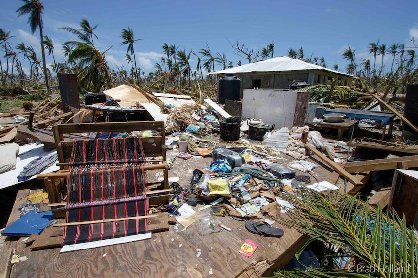 Ulithi property damaged by Typhoon Maysak