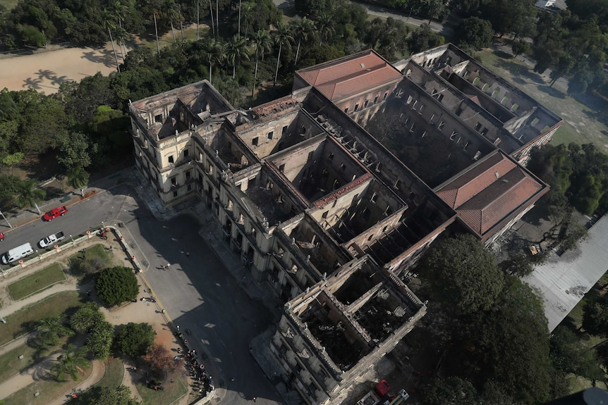 Initial reports suggested that up to 90 per cent of the museum was destroyed.