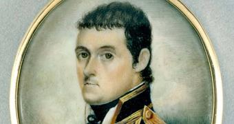 Watercolour portrait of Matthew Flinders