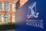 A close up of the University of Melbourne coat of arms.