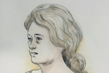 A court sketch of Melissa Bulloch