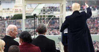 Donald Trump delivers his inaugural address