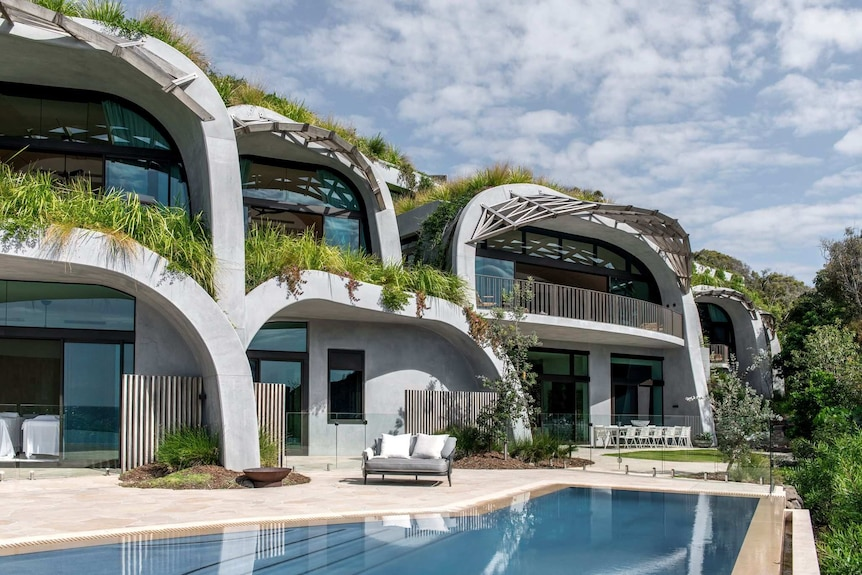 Domed home with greenery