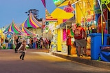 Colourful sideshow alley at the Silver City show