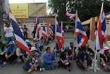 Anti-government protesters gather outside polling station to disrupt voting in southern Thailand