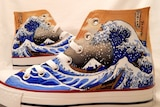 The wave as printed on a pair of shoes.