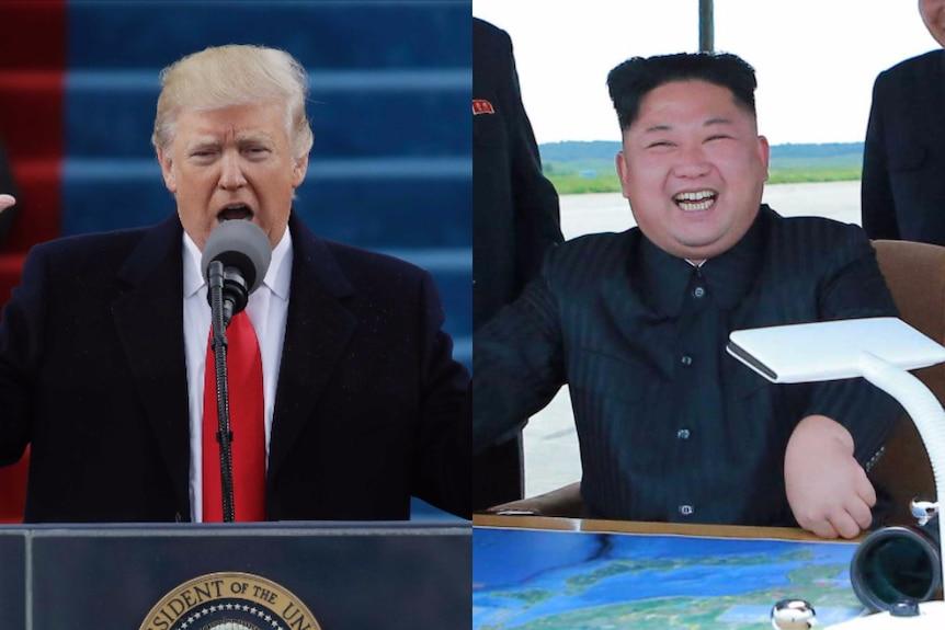 Kim Jong-un and Trump composite