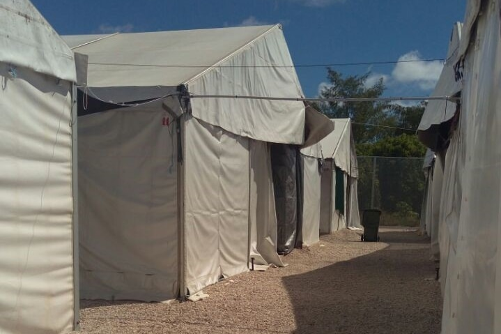 Tents at Nauru immigration detention centre