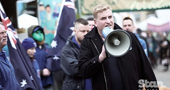 A still image from the new Romper Stomper TV series.