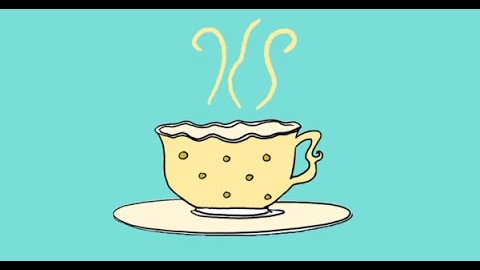 A drawing of a cup of tea.