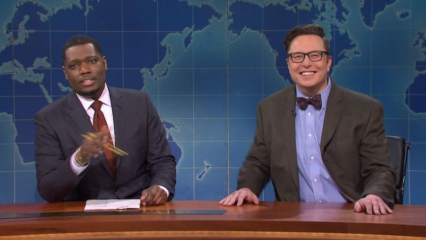 Elon Musk explains Dogecoin while hosting SNL.