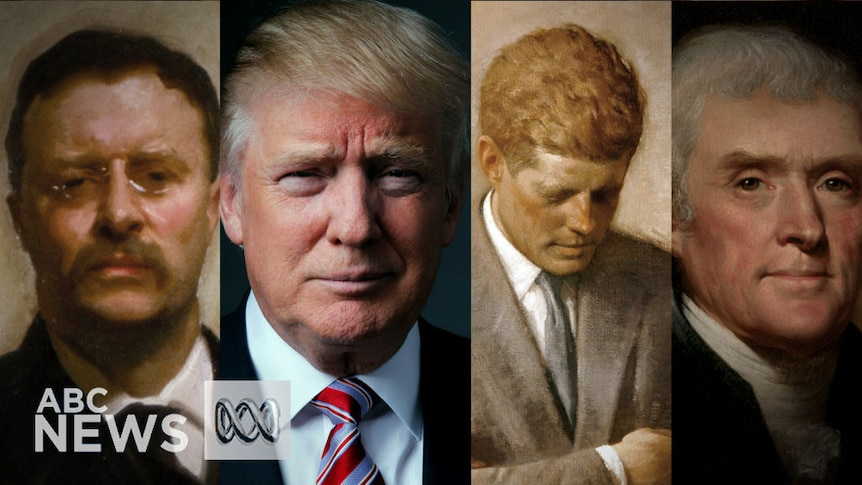 Time morph: Every US president from Washington to Trump