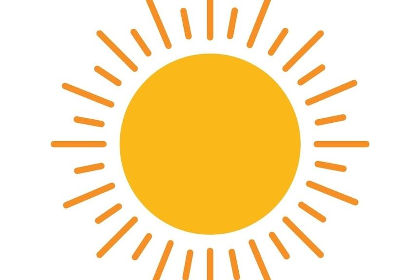 Animation of a shining sun
