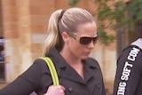 Samantha Farrer outside court