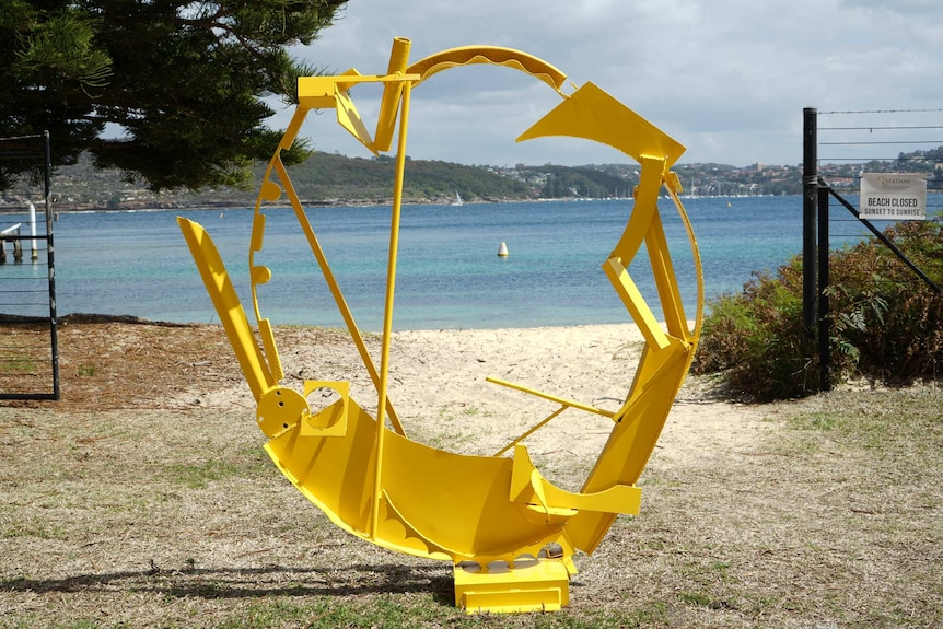 Ellenor Griffith's Empty Yellow featuring a circular yellow sculpture