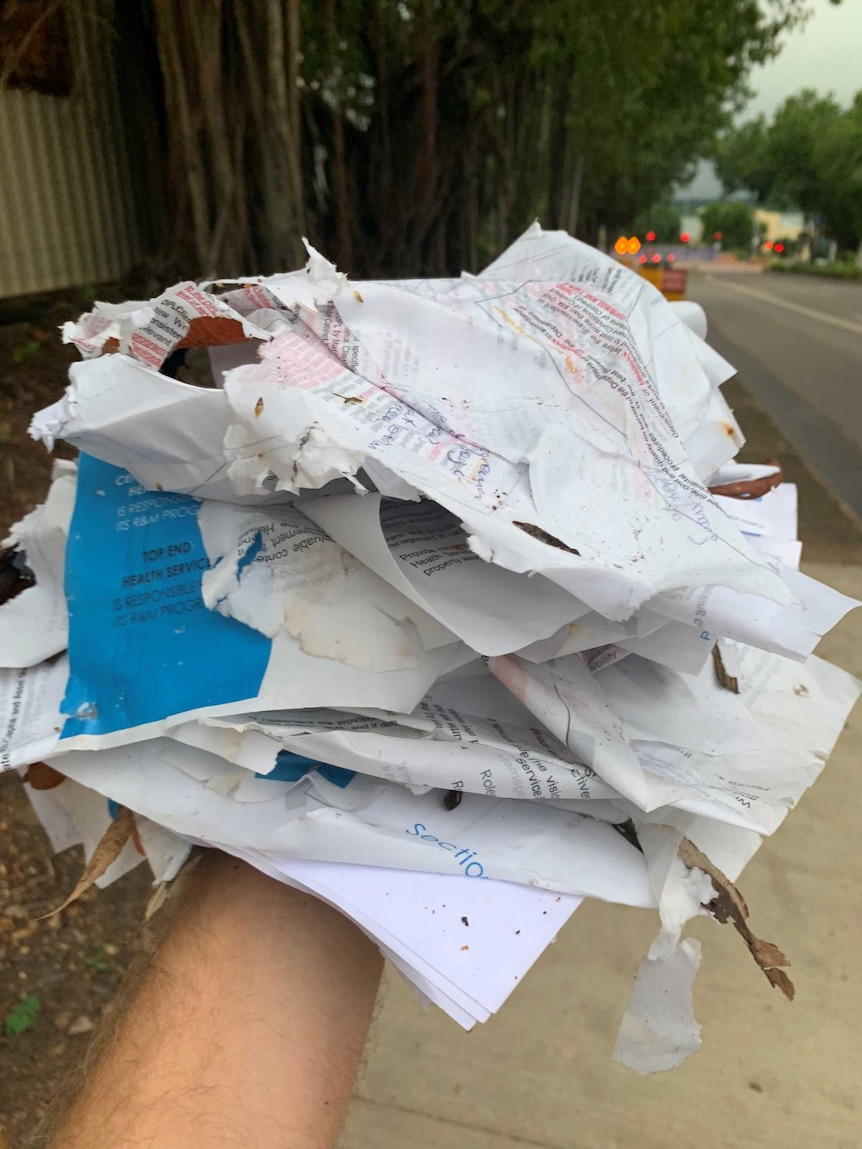 NT Government documents found in a Darwin street