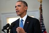 US president Barack Obama announces a shift in policy toward Cuba in Washington, December 17, 2014
