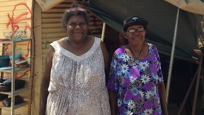 Borroloola residents Linda Owens and her mother Kathleen